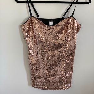 Venus 4 Camisole Tank Sequins Sparkly Metallic Top